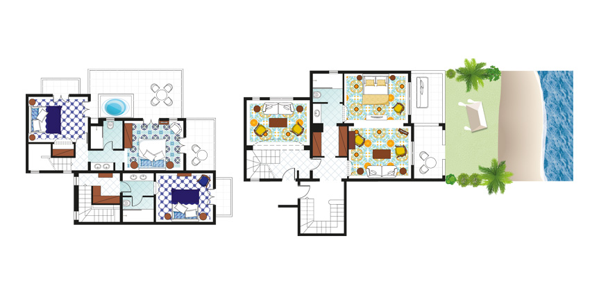 4-Bedroom-Villa-on-the-Beach-with-Outdoor-Hydromassage-Bathtub-Floorplan