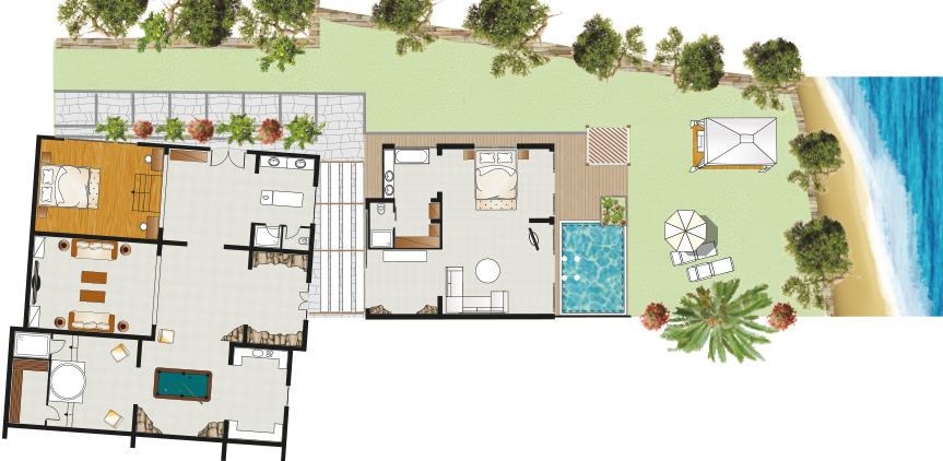 royal-residence-private-pool-garden-on-the-beach-floorplan