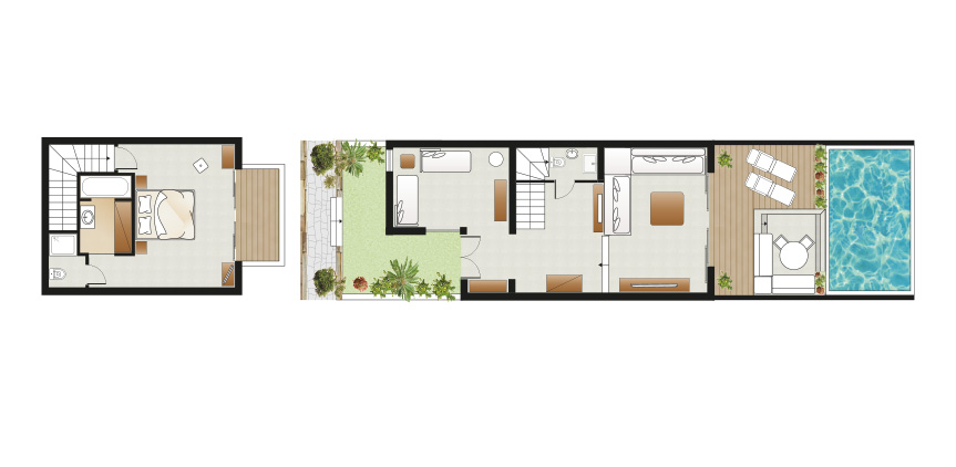 amirandes-2-bedroom-dream-villa-private-pool-couryard-floorplan