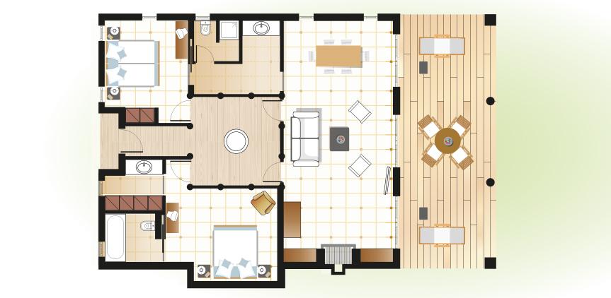 beach-villas-mandola-rosa-resort-floorplan